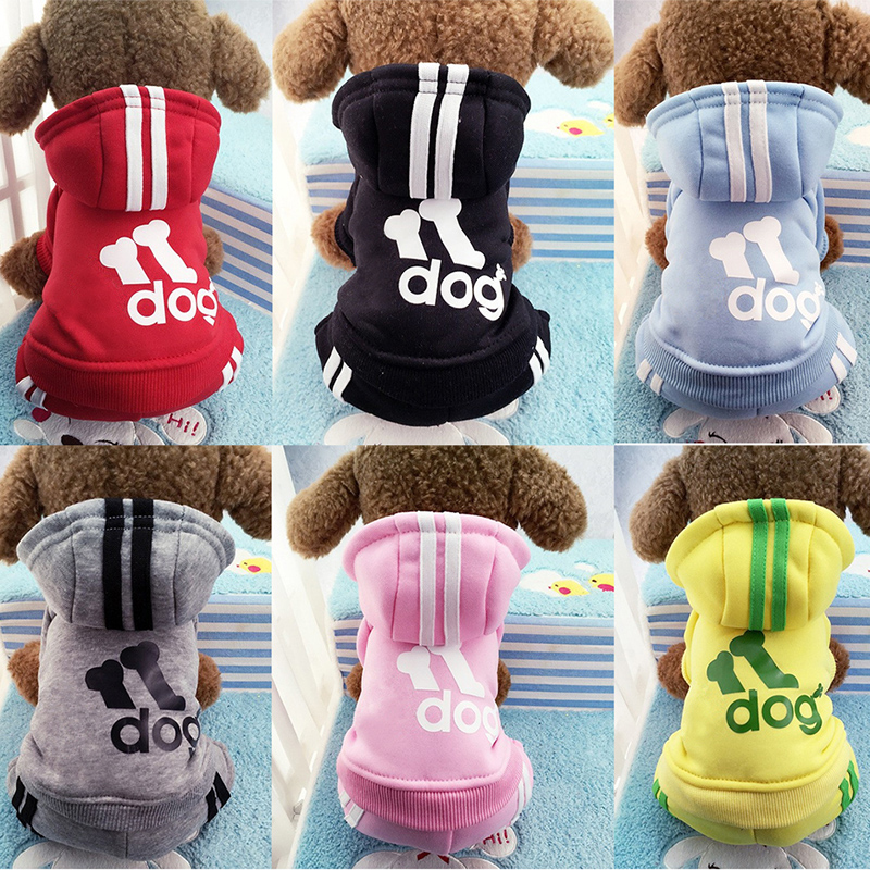 Hot Sale Winter Warm Dog Clothes Small Dogs Four-Legs Hoodie Sweaters Coats Cotton Puppy Pet Jackets for Chihuahua 7 Colors GY15