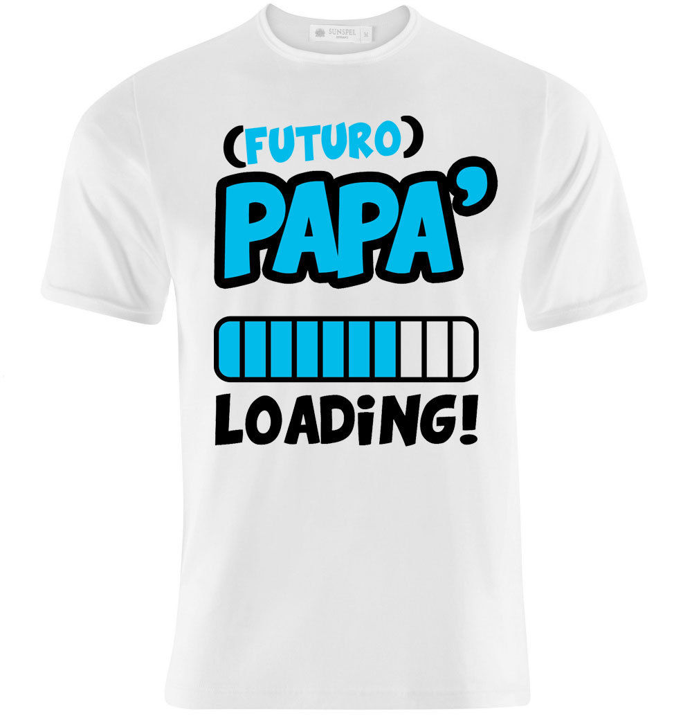 T-shirt Futuro Pap Loading, idea regalo per un pap in attesa, personalizzabile