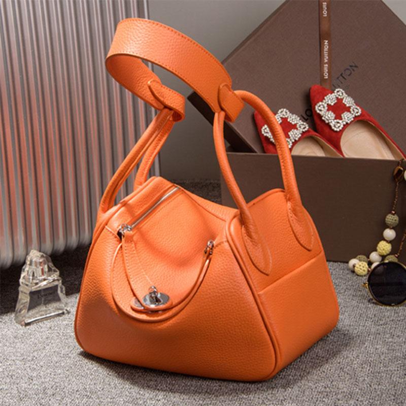 Autumn Famous Designer Women Casual Tote Bags Cow Genuine Leather Handbags Shou