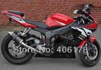 Лидер продаж, YZF600 R6 03 04 обтекатель для Yamaha Yzf R6 2003 2004 Спорт Мотоцикл Красного и черного цветов ABS Обтекатели (литья под давлением)