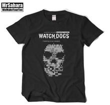 The game clothes clothing Watch dogs Tshirt Round collar With short sleeves T-shirt Men and women