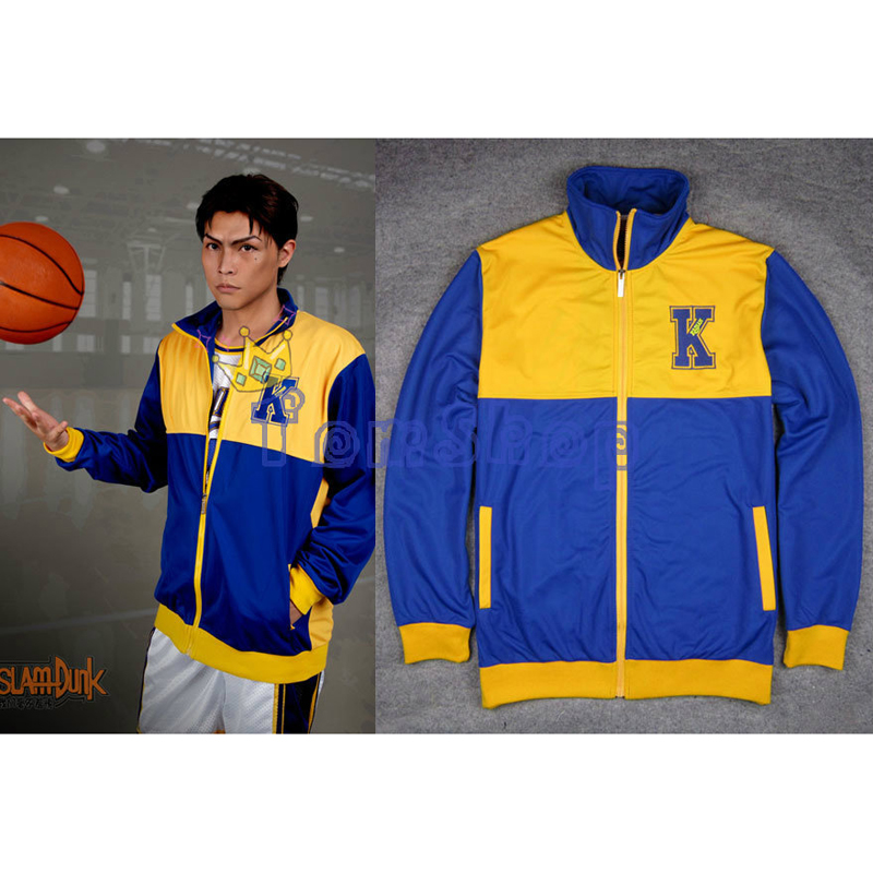 Anime SLAM DUNK Kainan High School Basketball Team Cosplay Costume Warm up Jacket Coat Sports Wear Team Uniform Size M L XL XXL