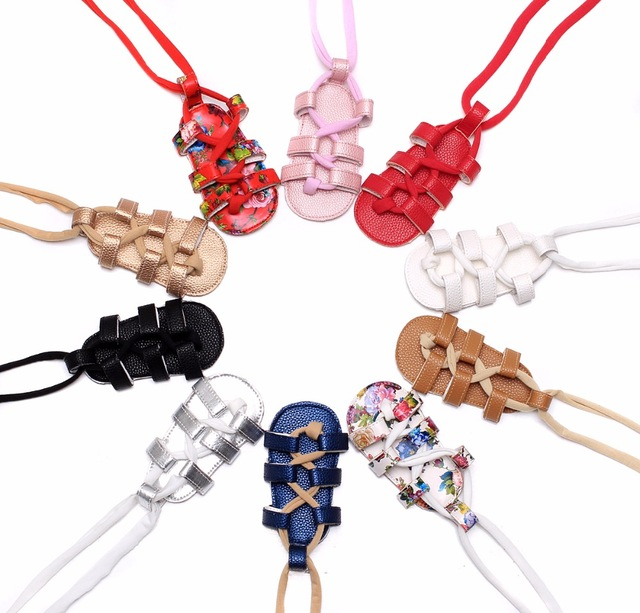 Kids Gladiator Shoes Toddler Girls Sandals Baby Summer Lace-Up Roman Pu Floral Infant