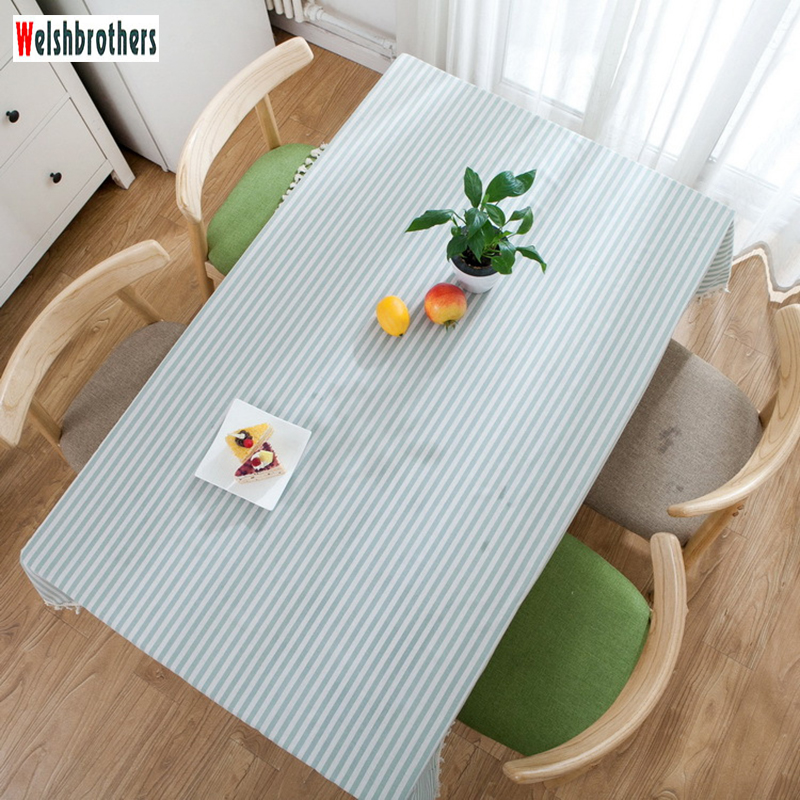 Pastoral Cotton And Linen Striped Printed Tablecloth Restaurant Living Room Birthday Party Wild Party Decoration Tablecloth2018