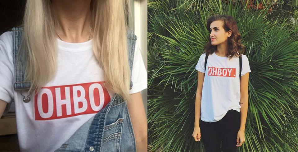 HTB11GnONFXXXXXrapXXq6xXFXXXh - OHBOY Printing T-shirt Tops Summer Woman Clothing