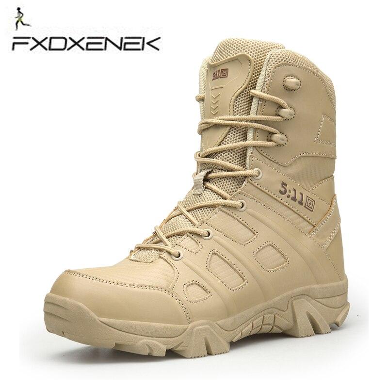Men Hiking Shoes Men Leather High Top Trekking Tactical Boots Sand Sport Climbing Mountain Camping Shoe Outdoor Walking Sneakers цена
