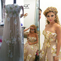 Strapless Handmade Myriam Fares Celebrity Dresses Long Evening Dress 2015 Arabia Real Made Formal Dresses Vestido
