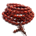 Chinese Style Pterocarpus Santalinus Olive Shaped Beads Bracelet Multilayer Beaded Elastic Men Jewelry Buddha Bracelet