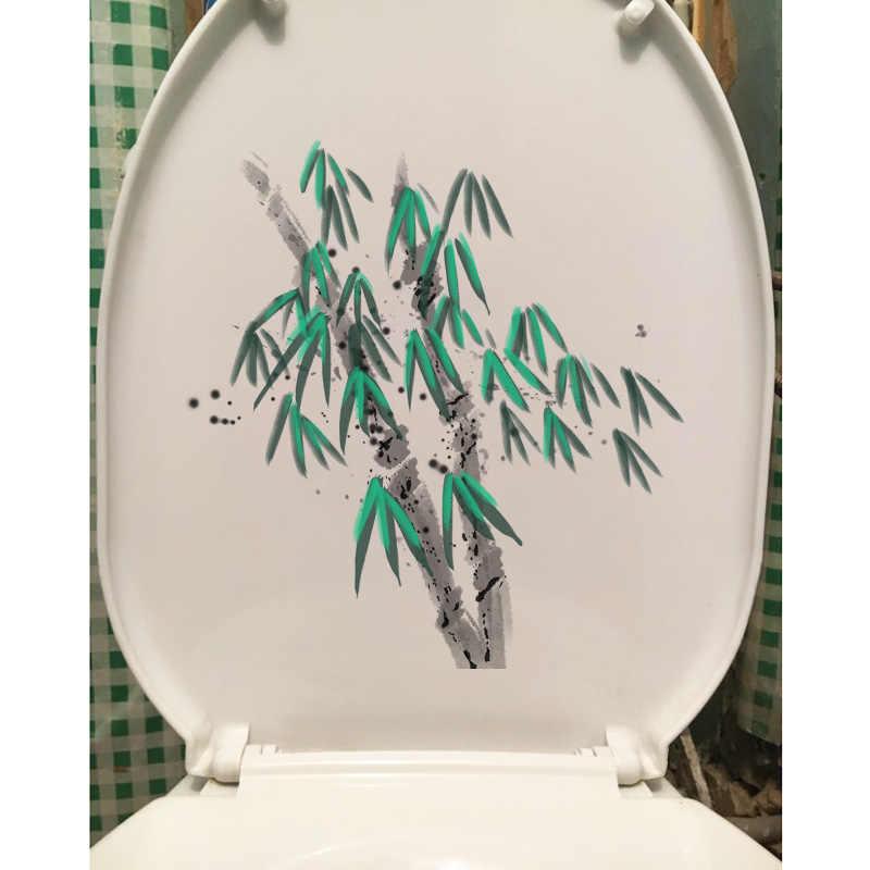 YOJA 20,5X21,7 см чернил зеленый бамбук Туалет декора классическая домашняя, комнатная, настенная наклейки на стену T1-1335