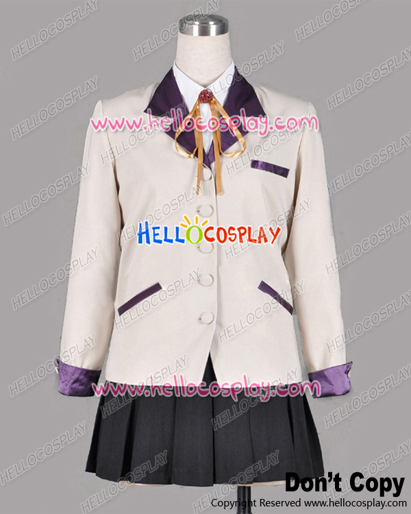 Angel Beats Angel Kanade Tachibana Cosplay Costume School Girl Uniform H008