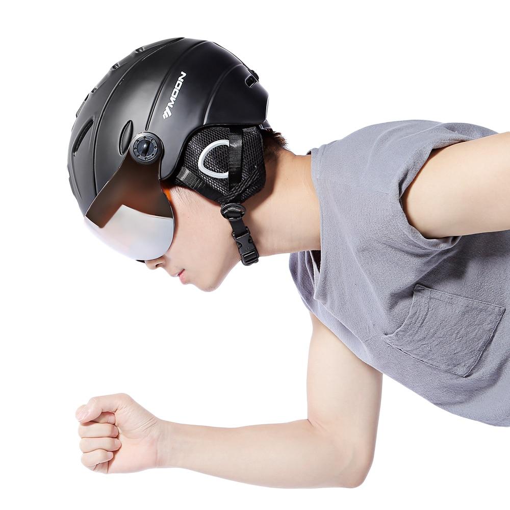 goggled Goggles, Skiing Helmet PC+EPS CE Certificate Ski Helmet cover men women for Outdoor snow Sports Ski Snowboard Skateboard стоимость