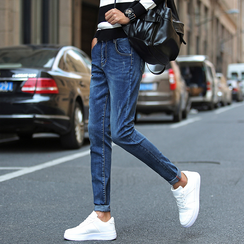 Gloria Jeans Men Denim Blue Skinny Jeans Stretch Trousers Elastic Casual Slim Fit Streetwear Pants Male Quality Calca Jean Homme