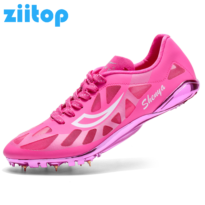 Men&Women Spikes Running Shoes Sneakers Breathable Mesh Dash Sprint Track and Field Shoes Outdoor Sports Shoes Jumping Shoes gogoruns men sprint spikes running shoes boy students examination track and field nail shoes sneakers men