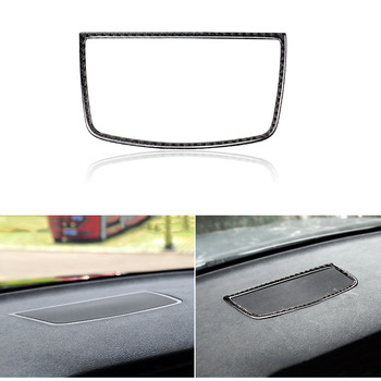 Carbon Fiber Dashboard Panel Speaker Loudspeaker Cover Trim Decal Sticker Fit for BMW X5 E70 X6 E71 2008-2013 image
