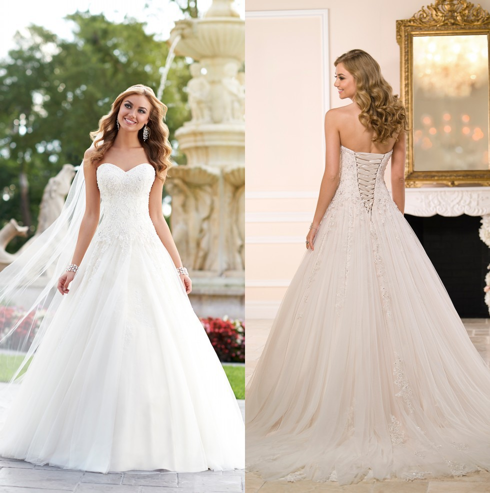 Fashionable Ball Gowns Sweetheart Lace Beaded Bridal Gown 2018 Lace Up Vestido De Novia Lace Mother Of The Bride Dresses