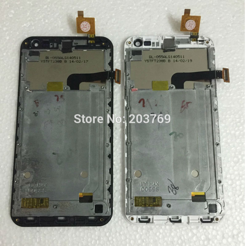 5.5 Komu K8 originalfor LCD + touch screen digital assembly surface shell (bracket) black and white