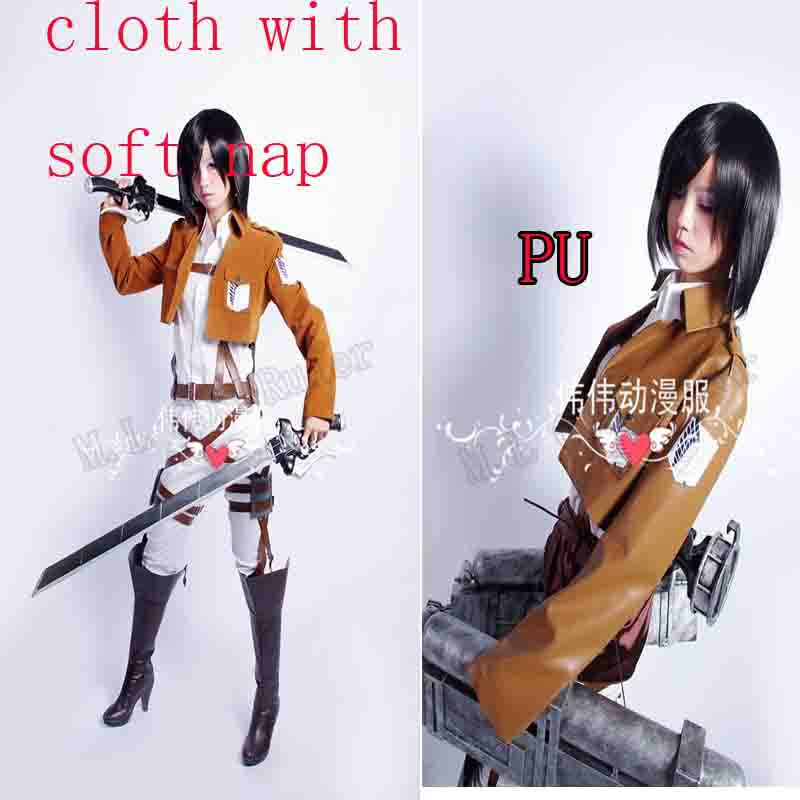 Attack on Titan Shingeki no Kyojin Scouting Legion Mikasa Ackerman Ellen Cosplay Coat