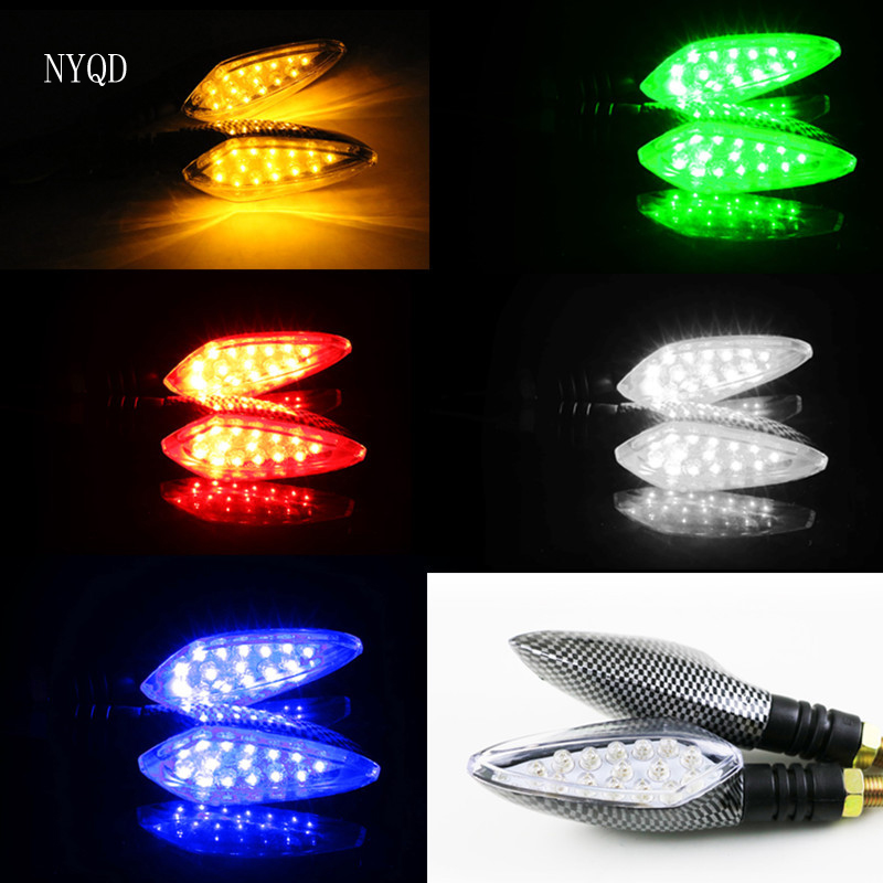 2ps/pair motorbike LED turn signal off-road vehicle 12V street running direction light refitting parts turn indicator turn light 12v 3 pins adjustable frequency led flasher relay motorcycle turn signal indicator motorbike fix blinker indicator p34