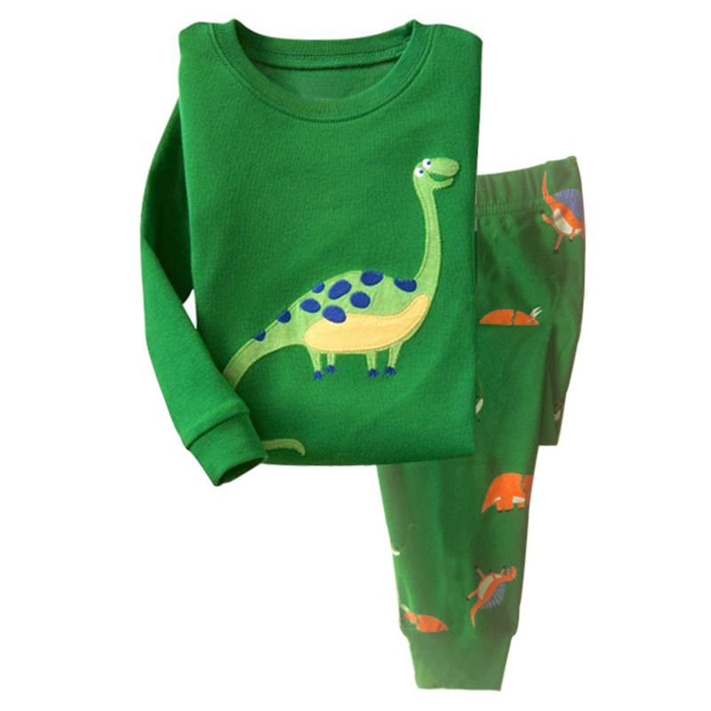FANCYINN Baby Boys Girls Cartoon Pajamas Suits Kids Pjs Set Turtle Dinosaur Childrens Sleepwear Home Suit age 2 3 4 5 6 7 Years