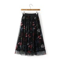 S M L South Korean Women S Small Fresh Spring Elastic Waist Lace Inside Print Outside