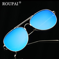ROUPAI 2017 High Quality Metal Sunglasses Steampunk Women Fashion Glasses Brand Designer Retro Vintage Female Sunglasses