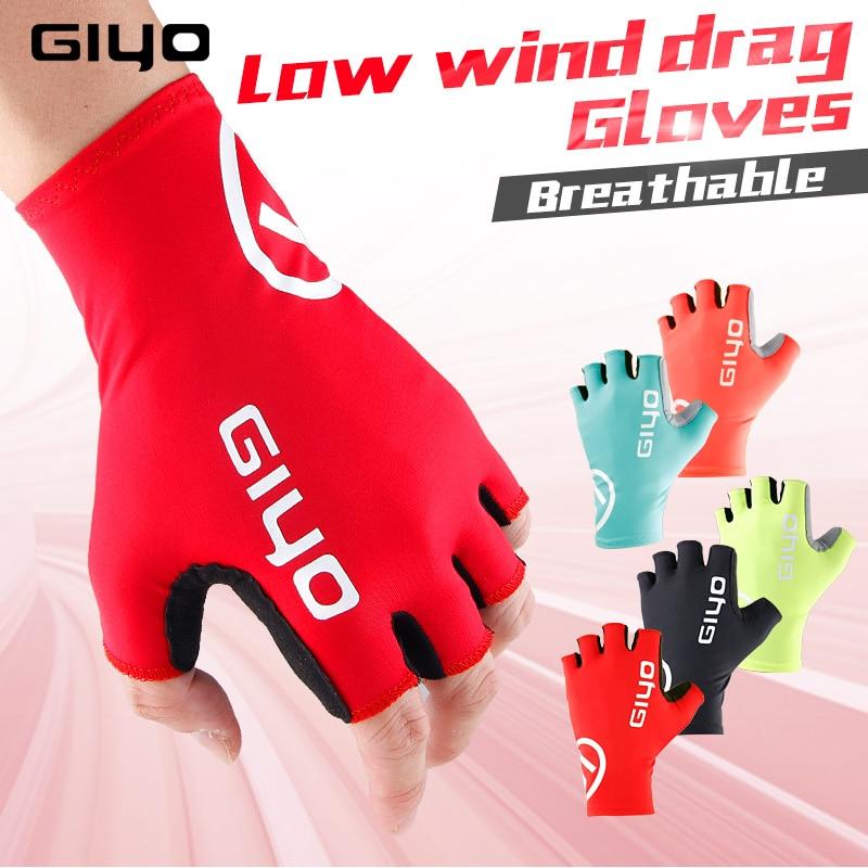 GIYO Anti Slip Gel Pad Велосипедні рукавички Гелевий килимок Короткий Половину пальця Велоспорт Рукавички Дихаючі Спорт на свіжому повітрі Чоловіки MTB Велосипеди Рукавички