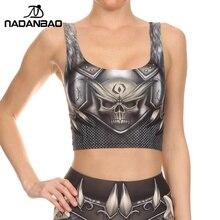 NADANBAO NEW BARBARIAN Crop Top Cosplay Comic Pattern Women Camis Skull Print tank tops Colorful sleeveless Tee Vest