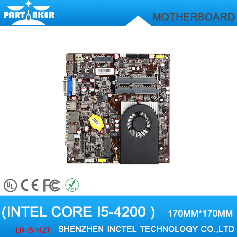 Thin Mini ITX HTPC Motherboard LR-i5H42T with i5 4200 Dual Core 1.4G Max Turbo can reach 1.9G