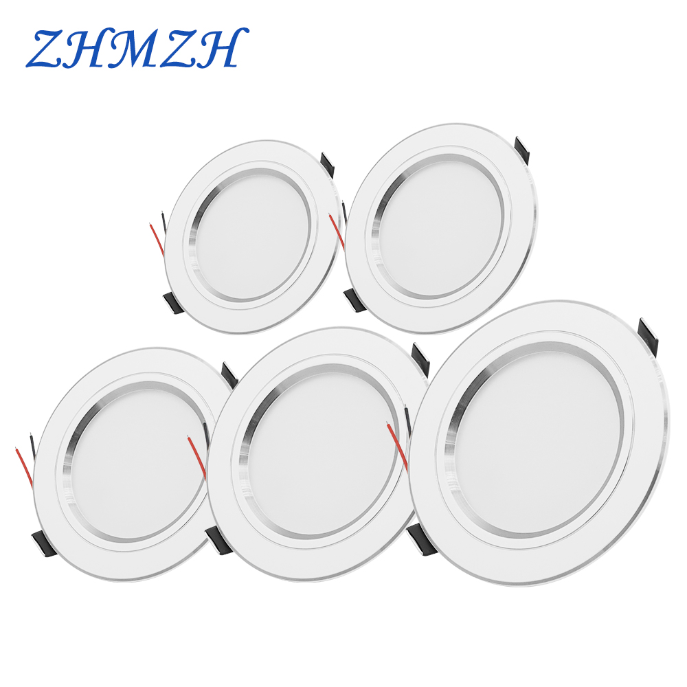220V LED Downlight Round Recessed 5W 9W 12W 15W 18W White/Warm White LED Spot Lighting Led Bulb For Bedroom Kitchen Diningroom