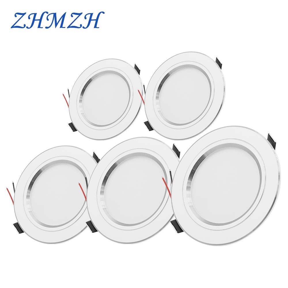 220V LED Downlight Round Recessed 5W 9W 12W 15W 18W White/Warm white LED Spot Lighting Led Bulb For Bedroom Kitchen Diningroom