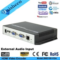 H.264 IPTV VGA Encoder HDMI Video Encoder youtube Encoder Transmit compus computer monitor ip rtmp video encoder live streaming