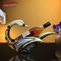 European Garden Style Duck Wine Frame Wine Rack Home Furnishing Resin Wine Frame Decoration Decoration