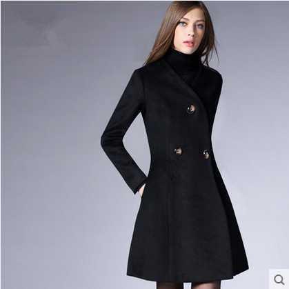 5c9485102db Nuevo llega el nuevo otoño 2015 de lana europea mujer abrigo largo abrigo  de paño de lana abrigos cintura 1442306831 chaquetas mujeres za en Zanja de  La ...