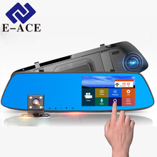 E-ACE 5.0 inch Touch Screen Car dvr Car Camera Camcorder Rearview Camera Mirror DVRs Auto Recorder Registrar Automotive Dash Cam