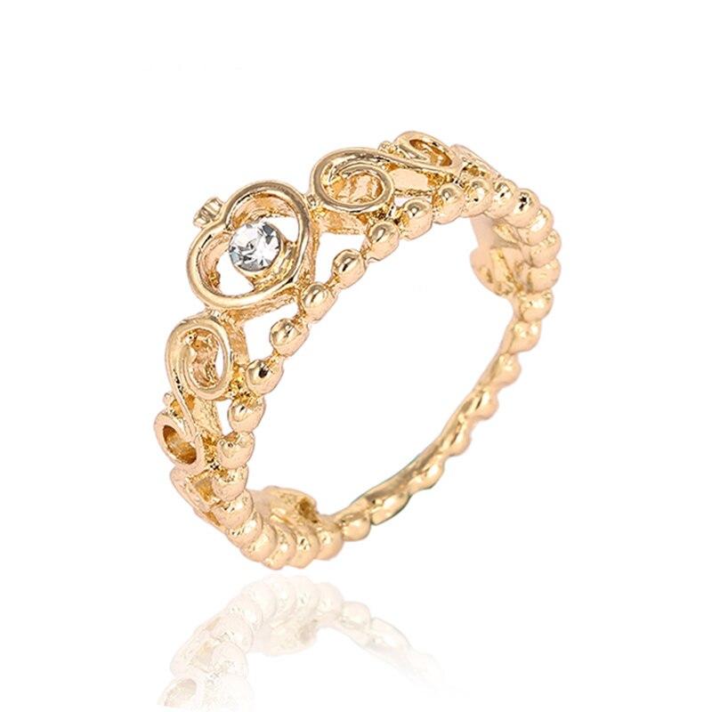 Модные плетеные кольца с кристаллами для женщин, золото/серебро/розовое золото, тонкое женское кольцо, вечерние ювелирные изделия для помолвки - Цвет основного камня: RG010