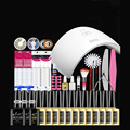 DIY Full Set Soak Off Uv Gel Polish Manicure Set 36W Lamp +12pcs gel polish +base+top +nail tool Kit Set