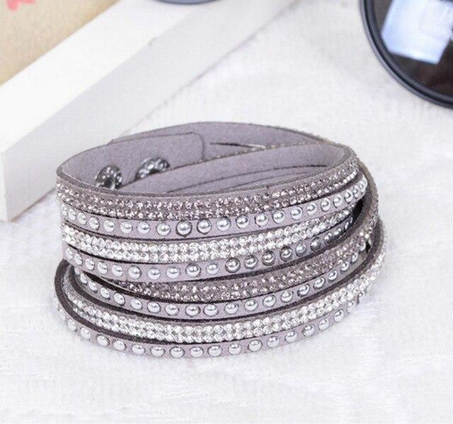 Swarovski 7 in. Bead Chain Bracelet w/ 11 6mm Crystal AB