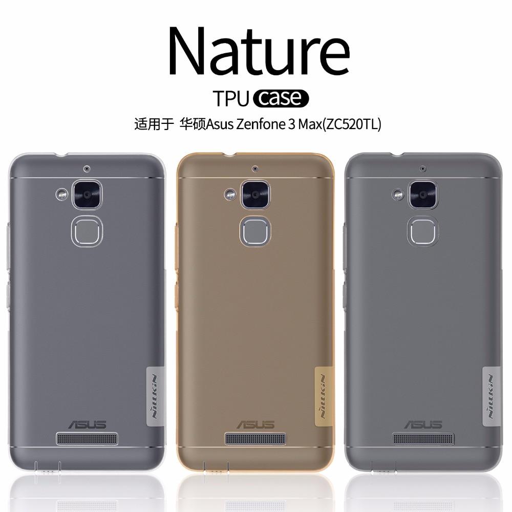 Asus zenfone 3 max zc520tl case nillkin nature tpu claro caso de volta suave transparente capa case para asus zenfone 3 max ZC520TL