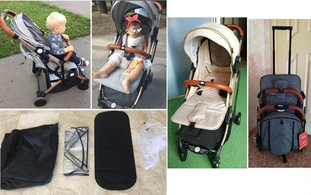 Baby Stroller Plane Lightweight Portable Travelling Pram Children Pushchair 4 FREE GIFTS,3USD COUPONS 5