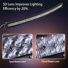 weketory 4D 5D 52 inch 500W Curved LED Work Light Bar for Tractor Boat OffRoad 4WD 4×4 Truck SUV ATV with Switch Wiring