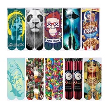 2018 Harajuku Socks Men/Women Casual Ankle Polyester Cotton 3d Print 2Pac Tupac/Lion/Monkey/Spacecraft Funny