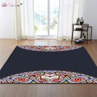 LeRadore Luxury European Boho Living Room Carpet Chair Yoga Mat Anti slip Soft Mat for Bedroom Polyester Shaggy Area Floor Mat