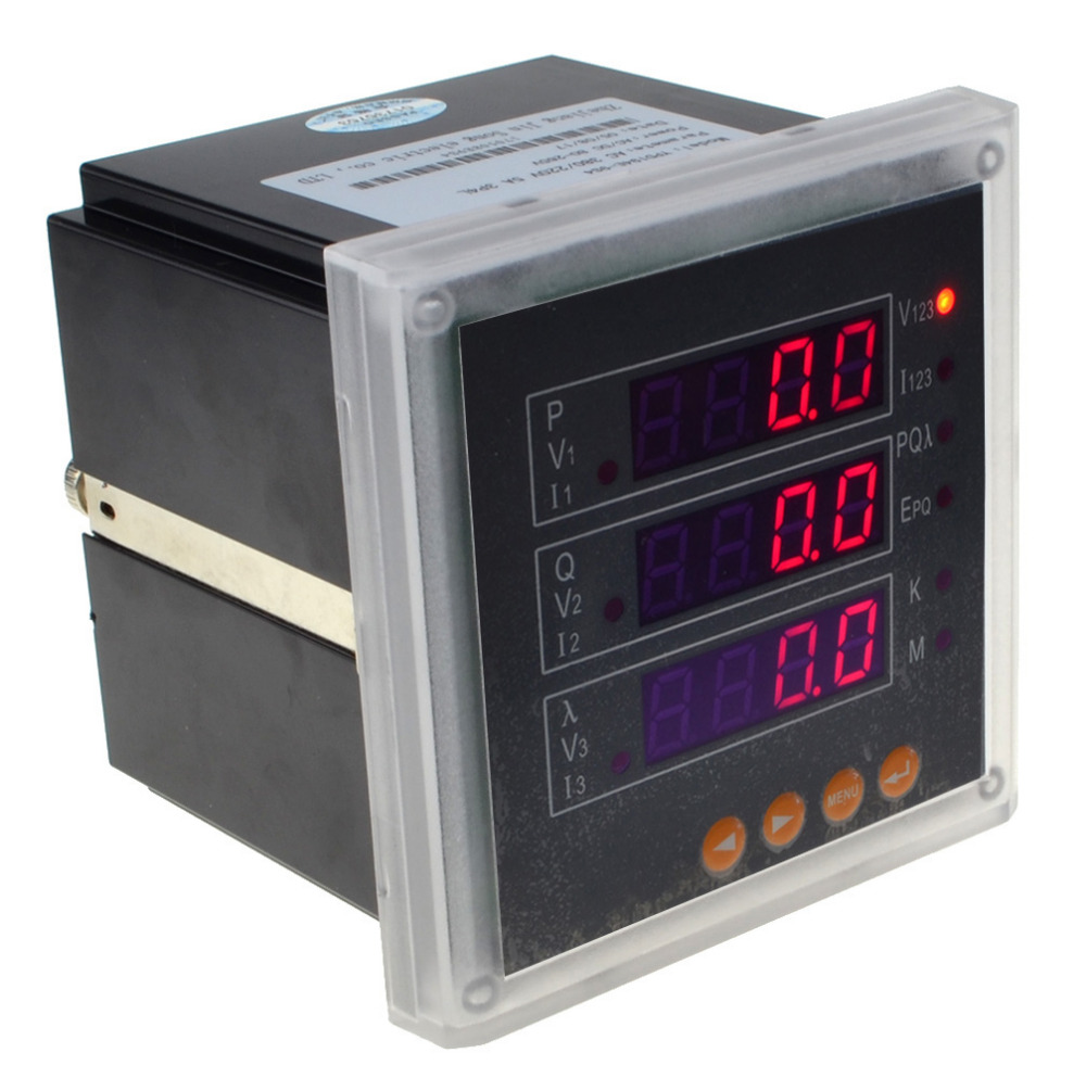 3 Phase Meter Utilyti : P three phase led digital multifunction electricity meter