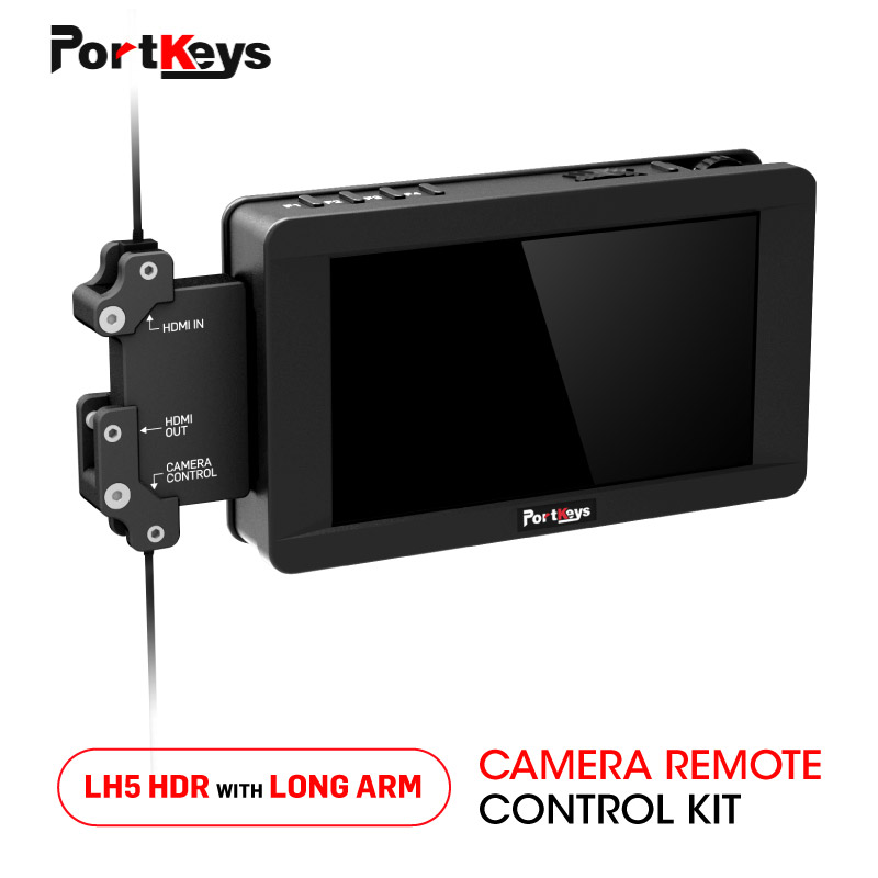 Portkeys LH5 HDR 1500nit Touch Screen Monitor 4K DSLR monitor 3D LUT and Long Arm Camera Controller KIT for Z Cam E2 KITPortkeys LH5 HDR 1500nit Touch Screen Monitor 4K DSLR monitor 3D LUT and Long Arm Camera Controller KIT for Z Cam E2 KIT