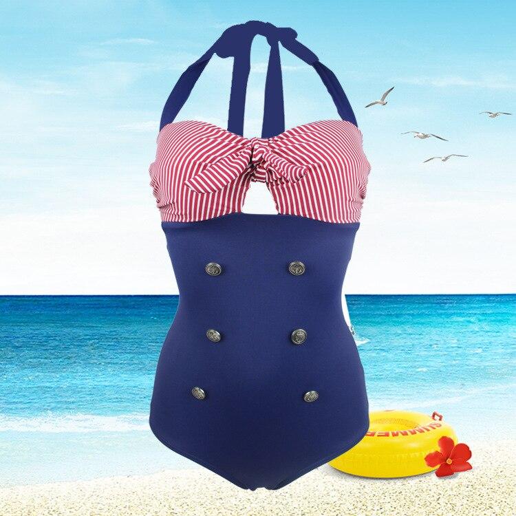 Brazil Style Swimsuit Siamese Stripes Bikini Hot Selling One-Piece Swimsuit With Big Yards SwimWear adidas купальник 3 stripes swimsuit