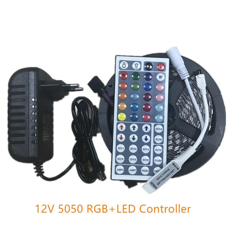 smd rgb led strip light 5050 2835 5m led light rgb leds. Black Bedroom Furniture Sets. Home Design Ideas