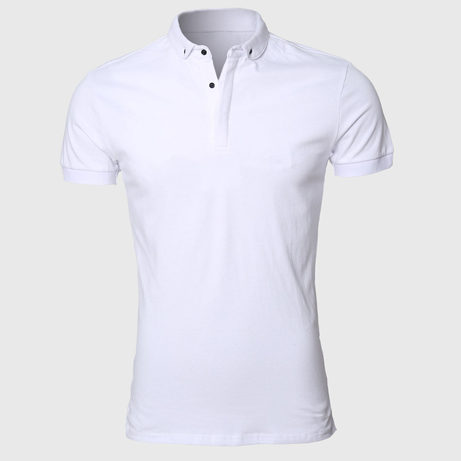 White men polo shirt pattern slim fit turn down types for White fitted polo shirts
