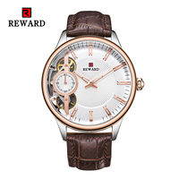 Fashion Mens Watches Wrist Watch Top Brand Luxury Man Casual Quartz Watch Genuine Leather Strap Watches Mens Dress Sports Clock