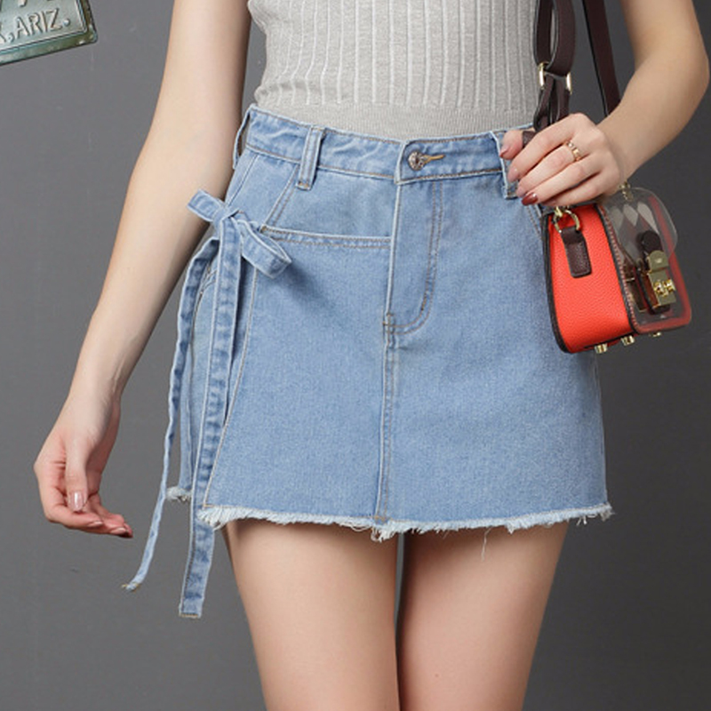 JTCY New Women Denim Shorts Skirt Plus Size Solid Button Casual Shorts Skirts Leisure Women Summer Straight Shorts in Shorts from Women 39 s Clothing