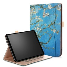 Pu Leather Case for iPad Pro 11 inch 2018, Multi Angle Viewing with Front Pocket & Secure Pencil Holder for iPad Pro 11 Case